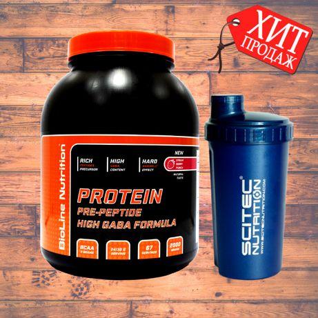 Комплексный Протеин для роста мышц, Germany, 2 кг 80% белка + Шейкер