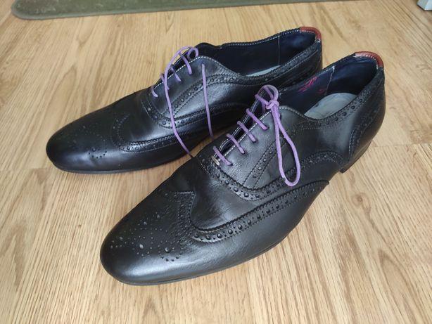 Eleganckie włoskie półbuty, pantofle męskie