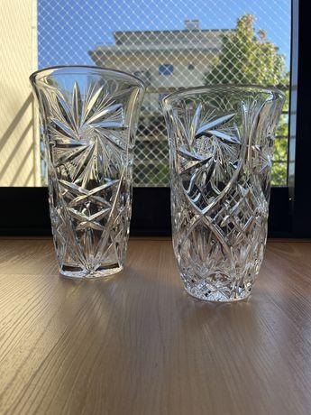 Par de vasos de cristal