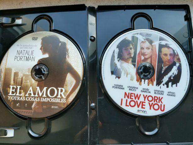 2 DVDs actriz Natalie Portman em caixa conjunta