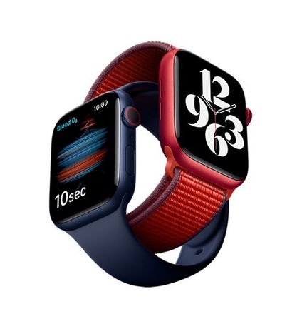 Apple Watch Series 6 40/44 mm Red/Deep Navy/Space Gray/ Gold/ Silver