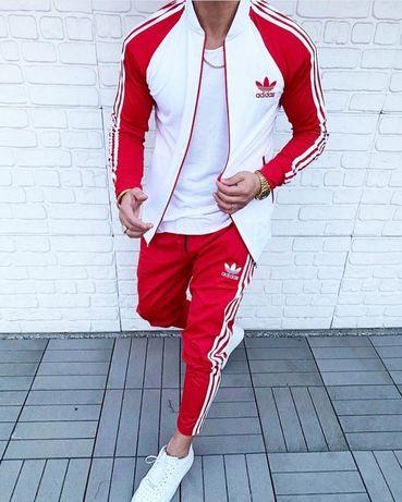 Спортивный костюм Adidas Мужской ,Красный зеленый