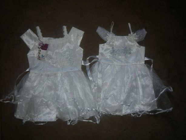 Biala sukienka sukienki 98 110 wesele chrzest
