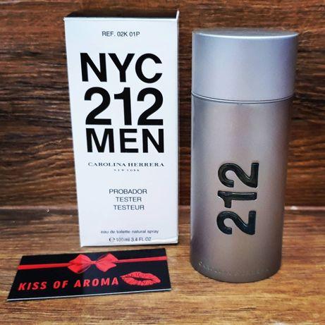 Туалетная вода Carolina Herrera 212 Men NYC TESTER Каролина Ник 100 ml