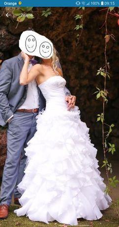 Przepiękna suknia ślubna! Okazja! Bolerko+welon!