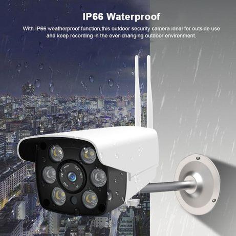 Camera Video Vigilancia Exterior WIFI 1080P Visao Noturna Android IOS