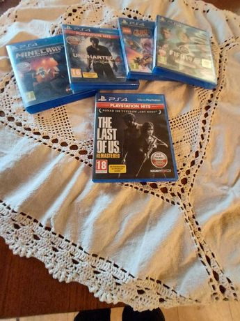 Gry fifa,uncharted4,lego movie2,minecraft,the last of us remastered