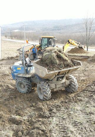 Usługi wozidłem budowlanym 6t 4x4 obrotowe