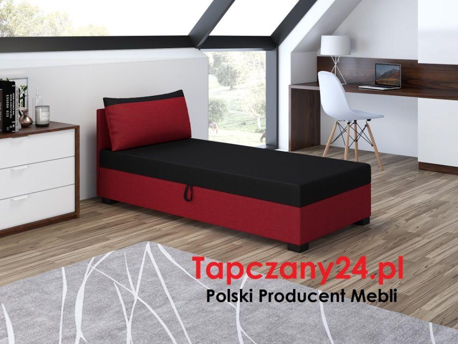 Łóżko Tapczan jednoosobowy młodzieżowy +pojemnik +materac Producent