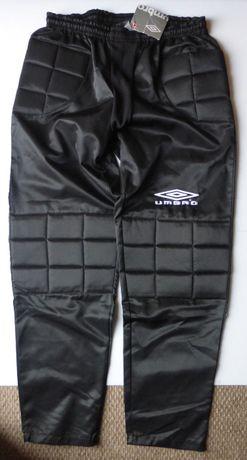 Spodnie bramkarskie UMBRO czarne bramkarz męskie XL NOWE piłkarskie