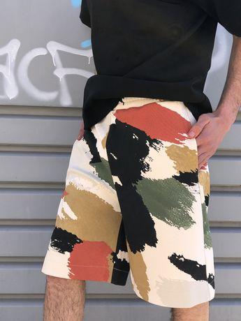 Calções bermuda Zara oversize