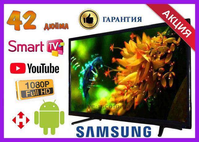 """Скидка! Телевизор Samsung 42"""" Smart TV FULL HD, Wi-Fi, Т2 Смарт тв"""
