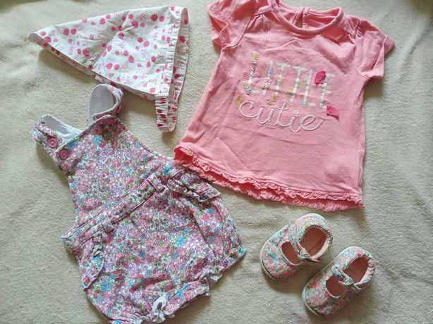 Пакет летней одежды на девочку 3-6 месяцев