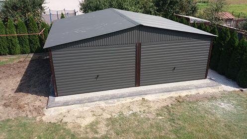 Opatów 6x5 Podwójny Garaż Blaszany Blaszaki Magazyn Hale Garaże Raty