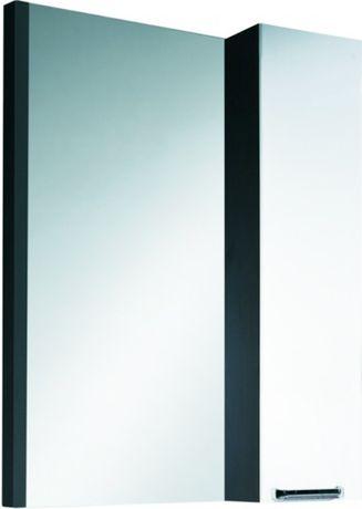 Шкаф с зеркалом белый глянец/венге Colombo