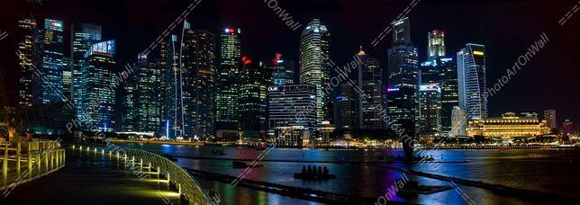 200x70 cm Fotografia Singapura Marina Bay Arquitetura Decoração Urban