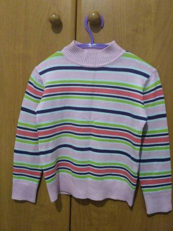 Красивый мягкий свитер на девочку 6 лет