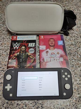 Nintendo switch  lite + jogos e bolsa proteção