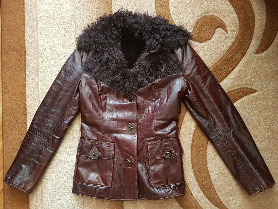 Дубльонка натуральна/куртка ЯК НОВА! S-розмір Скнилов - изображение 1