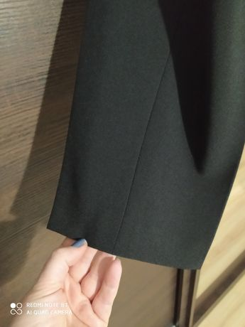 Spodnie  wizytowe, czarne rozm 46