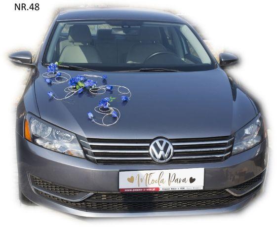 Dekoracja samochodu ozdoba na auto do ślubu NR.48 DOWOLNY KOLOR