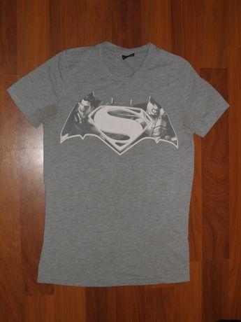 Футболка удлиненная, джерси мужская Superman Batman DC(Cупермен Бэтмен