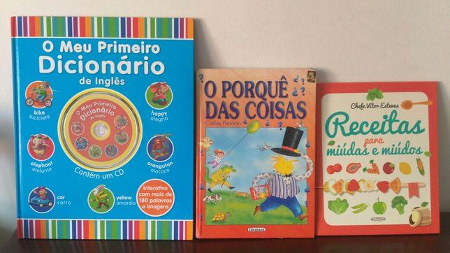 Livros Infantis - 1° Dicionário Inglês / Porquê Das Coisas / Receitas