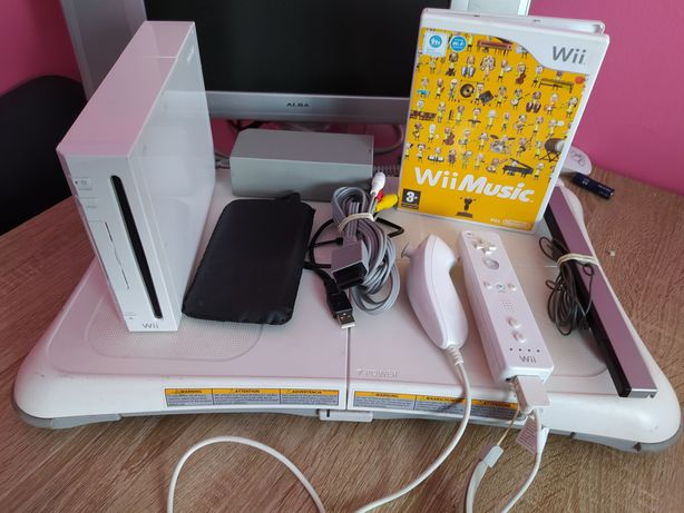 Nintendo Wii dysk 160GB CFW Softmode + Balance Board + Wii Music
