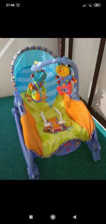 fotelik siedzisko bujaczek kołyska fisher price z zabawkami