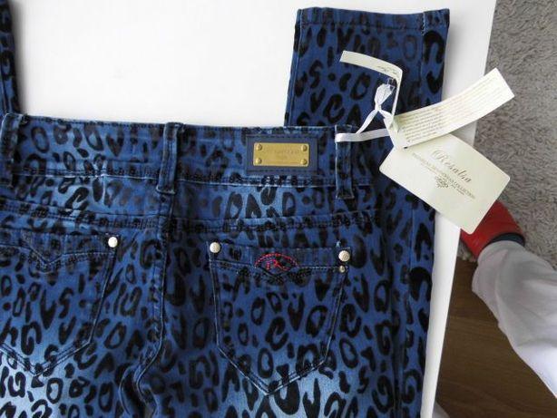 Nowe jeansy w panterkę r. 25 i 27.