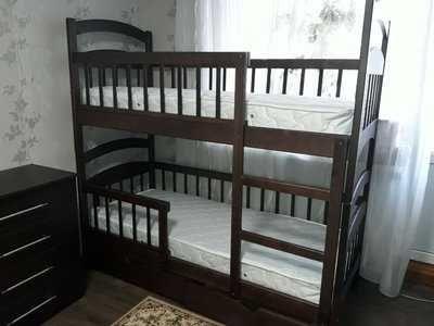 Двухъярусная  кровать трансформер + Матрасы и ящики