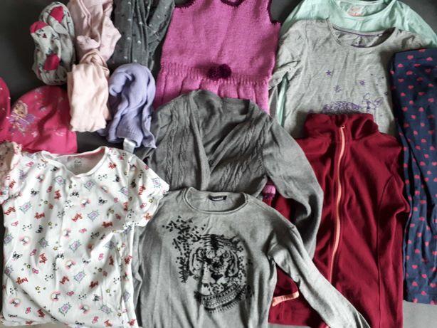 Zestaw ubrań dla dziewczynki zima 116