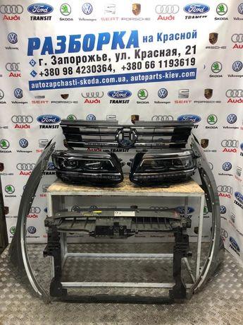 Разборка Tiguan 1 2 бампер фара LED Решетка ляда капот крыло дверь VW