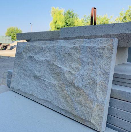 Плитка колотая скала з камня пісковик песчаник 20*10*1,5см, рвана