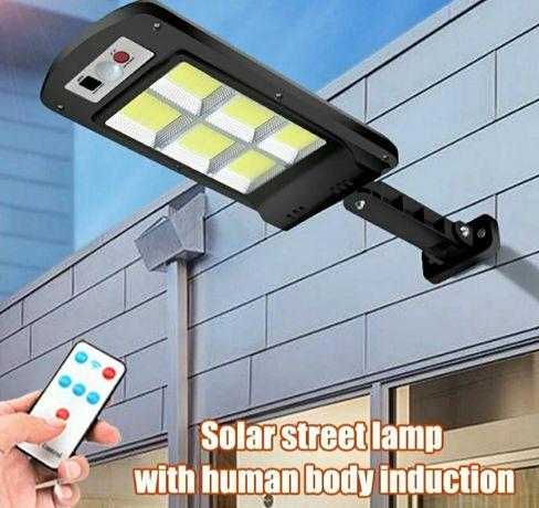 Lampa solarna 120 LED z czujnikiem ruchu + Pilot