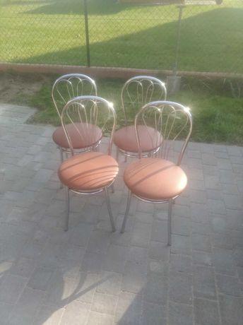 Krzesła, stół kuchenny szklany
