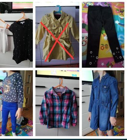 Zestaw Koszula,bluza,spodnie,bluzka,sukienka jeansowa HM,Next 104-110