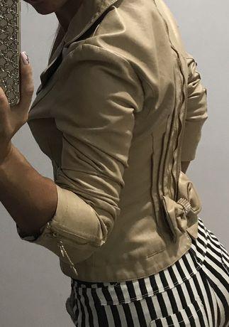 Гламурная кожаная курточка
