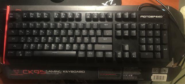 Клавиатура проводная Motospeed v6 CK95 USB Black , RUS Outemu Red