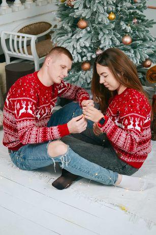 Свитер с Оленями парный/ Новогодний свитер с оленями