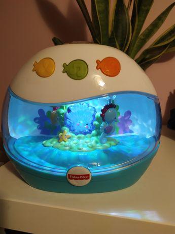 Uspokajacz z projektorem Fisher-Price akwarium karuzela lampka