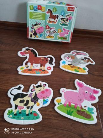 Puzzle dla maluszka zwierzęta od 2+