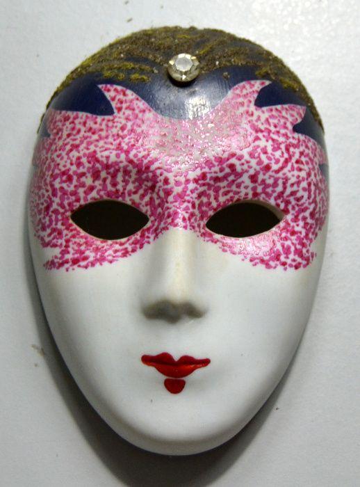 "Máscara de Veneza ""SPARKLER"" em biscuit das colecções Philae – 1988"