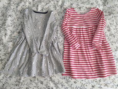 Sukienki bawełniane dwie sztuki firmy ff 18-24m 92cm nowe bez metki