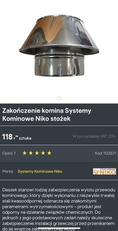 Zakończenie komina NOWE Niko fi 200 komin system nasada daszek stożek