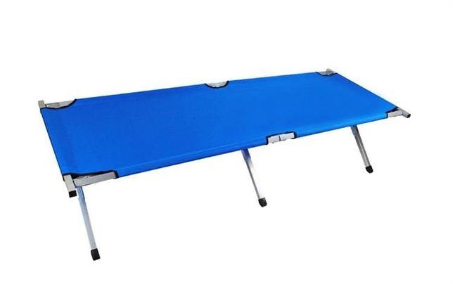 Łóżko polowe niebieskie - kanadyjka