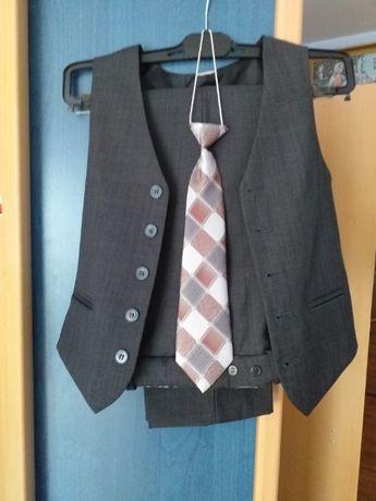 Spodnie kanty i kamizelka -komplet 134