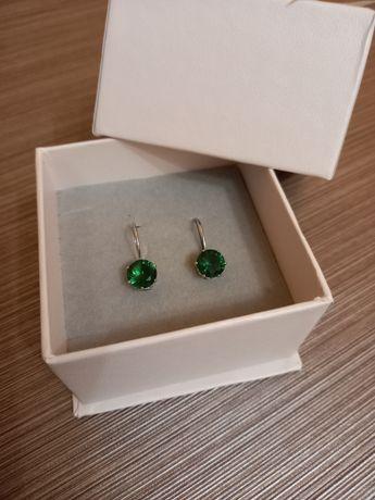 S925, зелёные камни