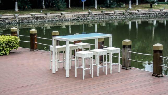 meble ogrodowe - zestaw barowy // BAR BATU // wysokie hokery + stół