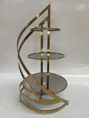 Spirala 3 GOLD stojak do tortu